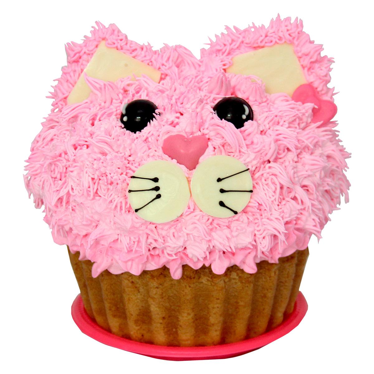 Cupcake gigante decoraci n gatico almara reposteria for Decoracion en cupcakes