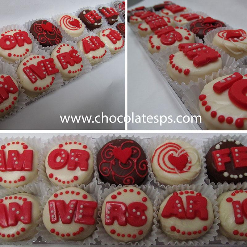 Caja Alfajores Personalizados Letrero Amor Feliz Aniversario Almara